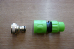 ¾ BSP Female to Male Brass Hoselock (Including plastic hoselock connector)